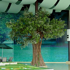 仿真包柱榕树 Artificial banyan tree